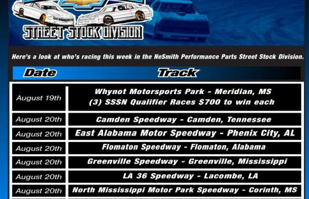 NeSMITH PERFORMANCE PARTS STREET STOCK DIVISION WEEK 22 PREVIEW