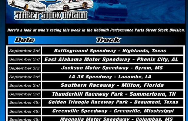 NeSMITH PERFORMANCE PARTS STREET STOCK DIVISION WEEK 24 PREVIEW