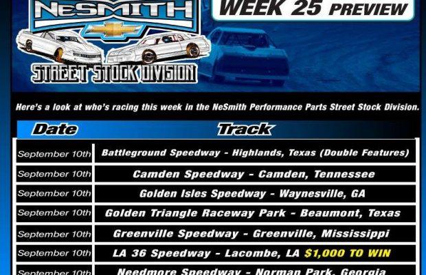 NeSMITH PERFORMANCE PARTS STREET STOCK DIVISION WEEK 25 PREVIEW